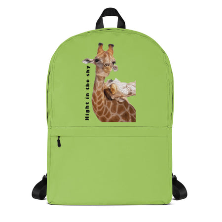 Backpack Giraffe Black green purple pink blue