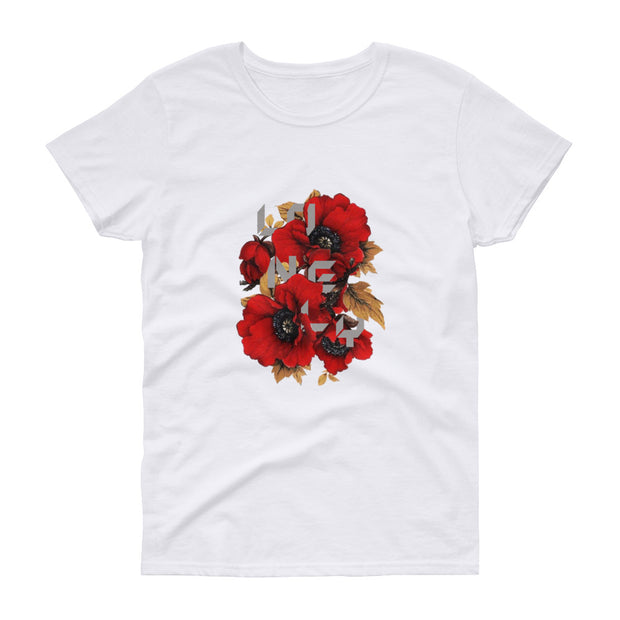 Woman's T-shirt Lonely Flower | Time2Tee™