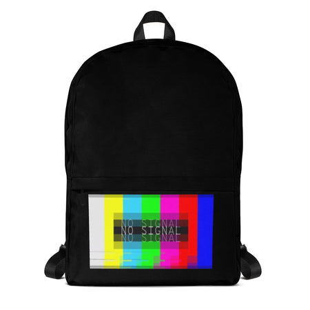 Backpack No Signal Black red pink yellow green blue