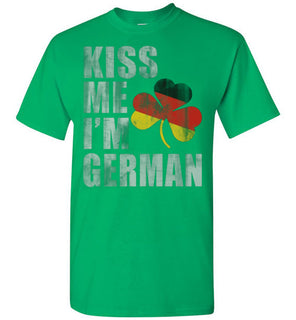 kiss me i'm german st patrick's day t shirt