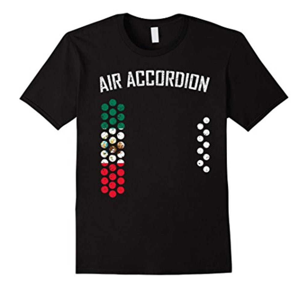 air accordion t shirt - the flag of mexico
