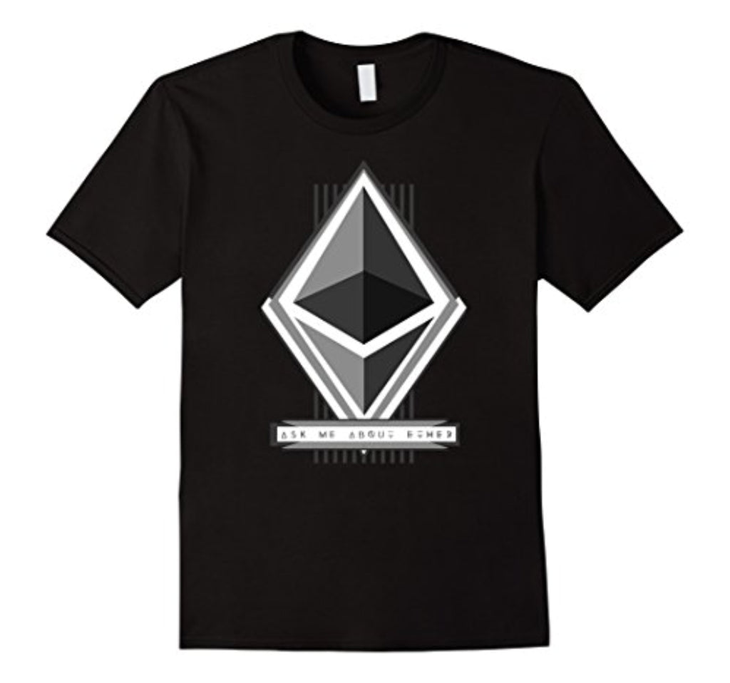 ask me about ether t-shirt