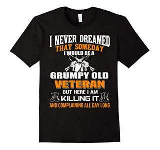 beetee: grumpy old veteran t-shirt