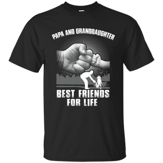 Papa and granddaughter best friends for life shirt father day tshirt