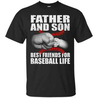 father and son best friend for baseball life t-shirt father day tshirt
