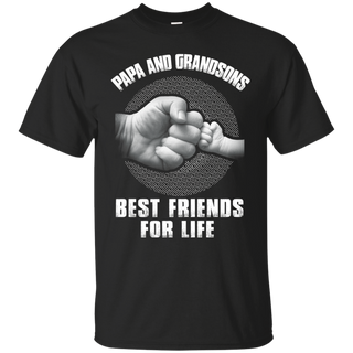PAPA AND GRANDSONS BEST FRIENDS FOR LIFE SHIRT father day tshirt