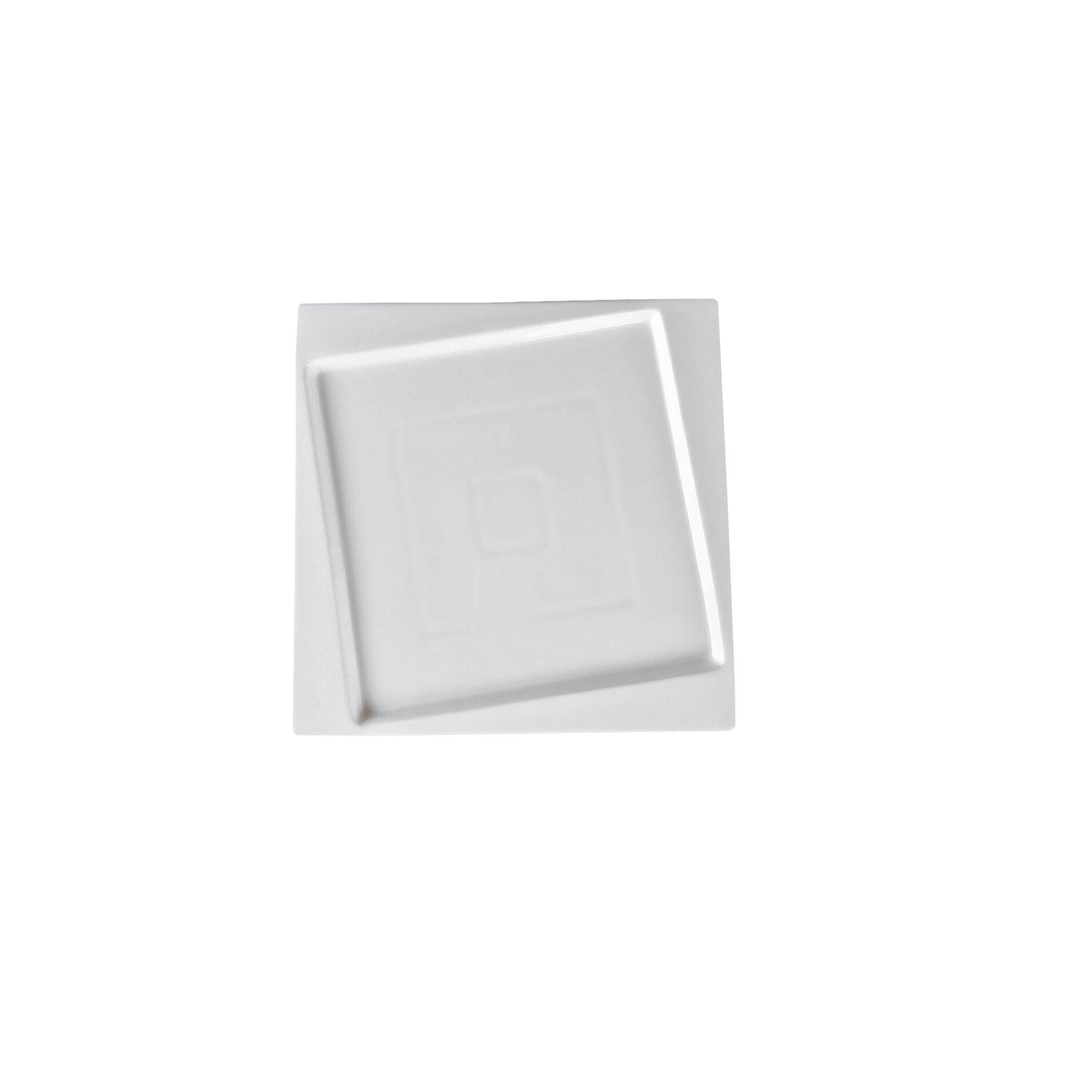 "Square Collection 6.3"" (16 cm) Porcelain Bread and Butter Plate"