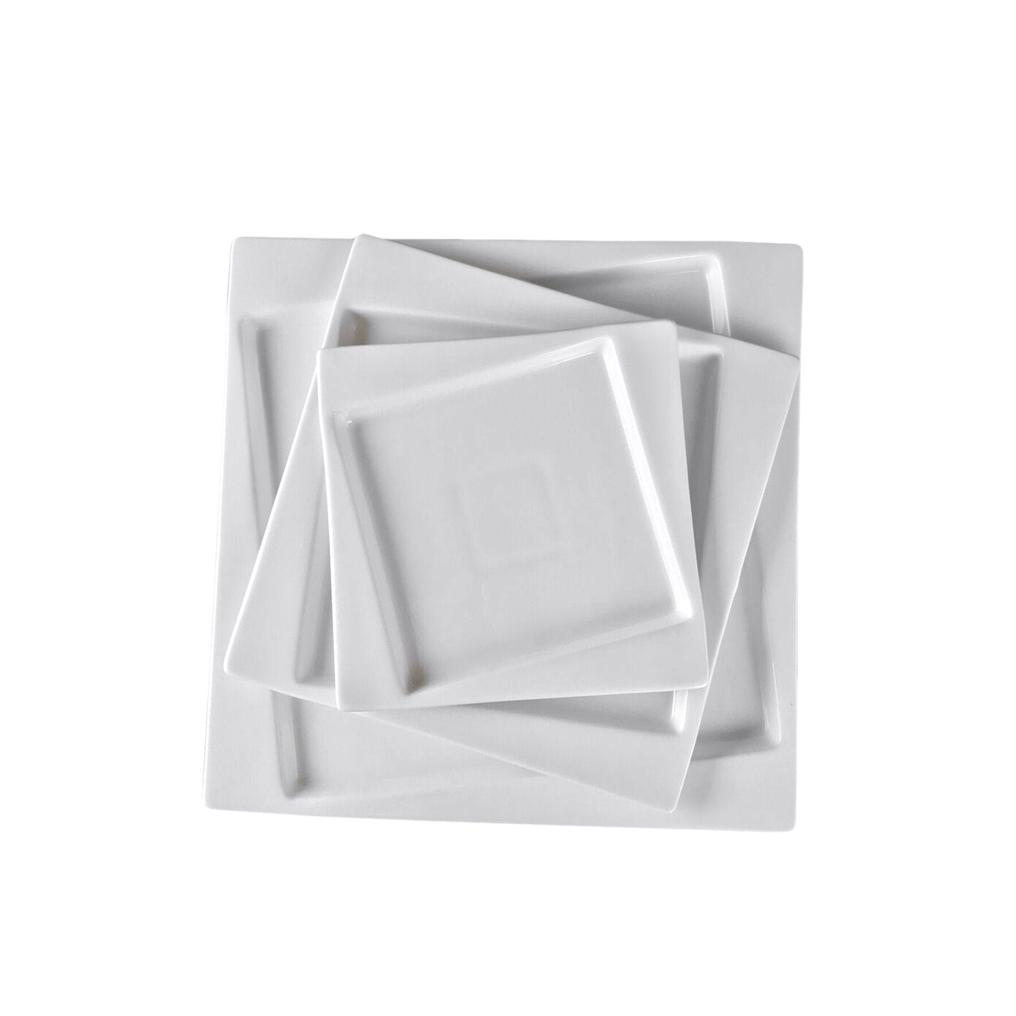 "Square Collection 10.2"" (26 cm) Porcelain Dinner Plate"