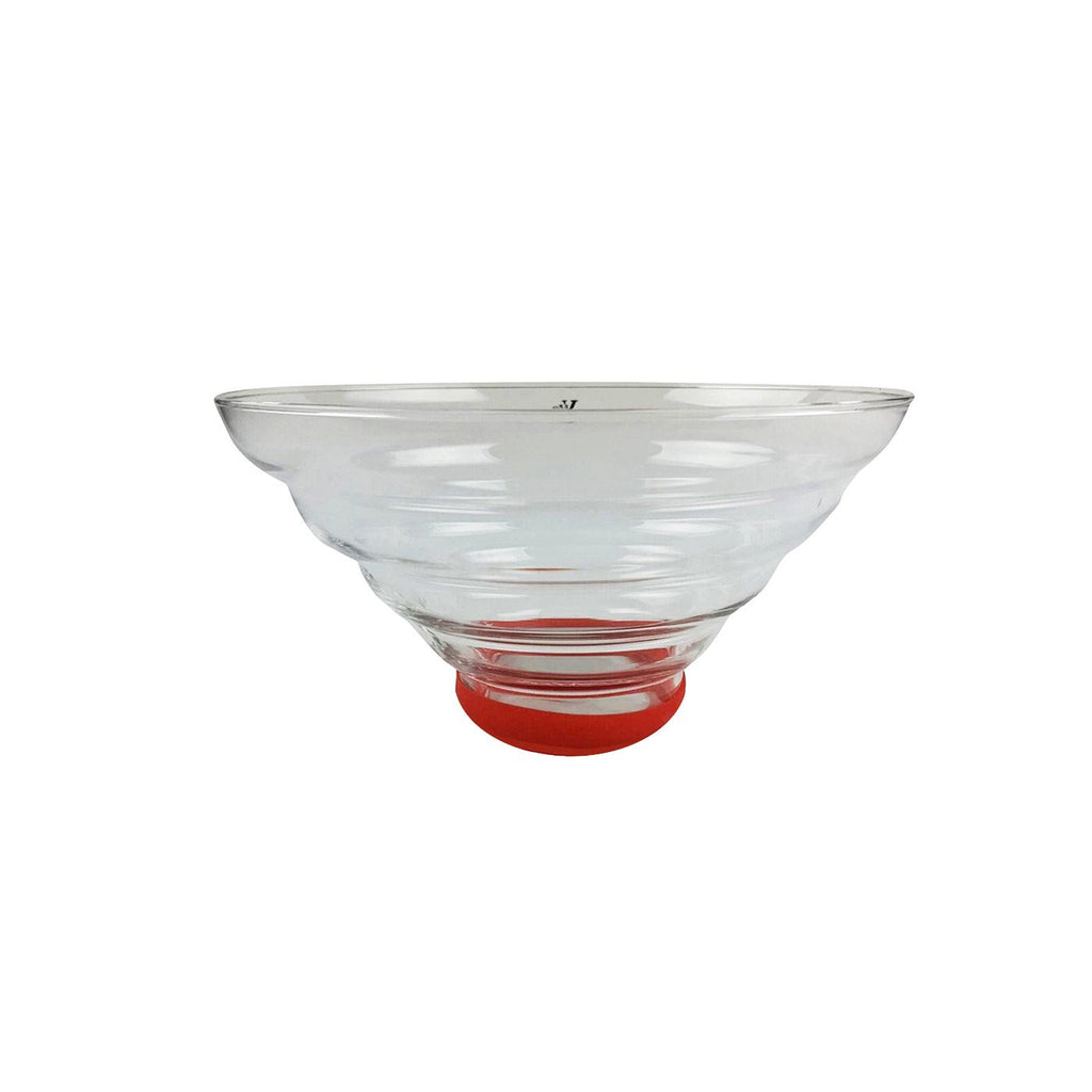 1.6L Glass Salad Bowl with Protective Silicon Ring