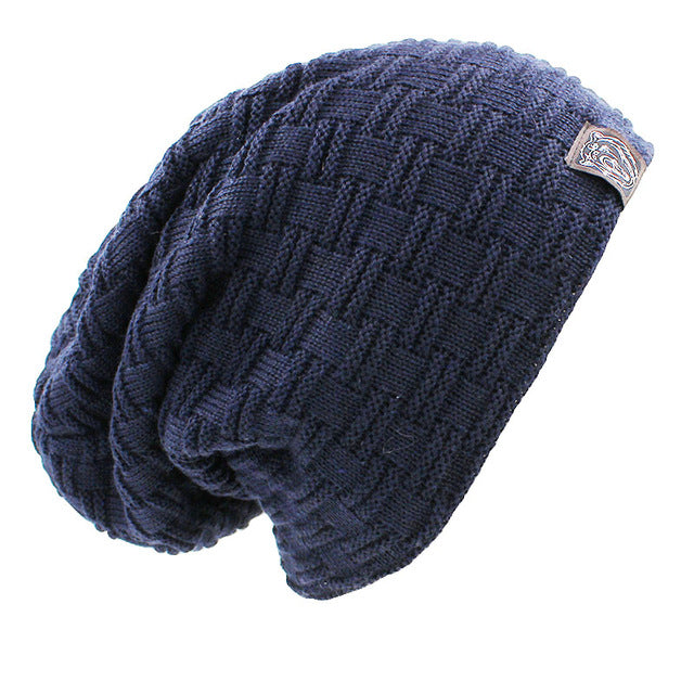 Solid Design Skullies Bonnet Winter Hats - Real Man Image