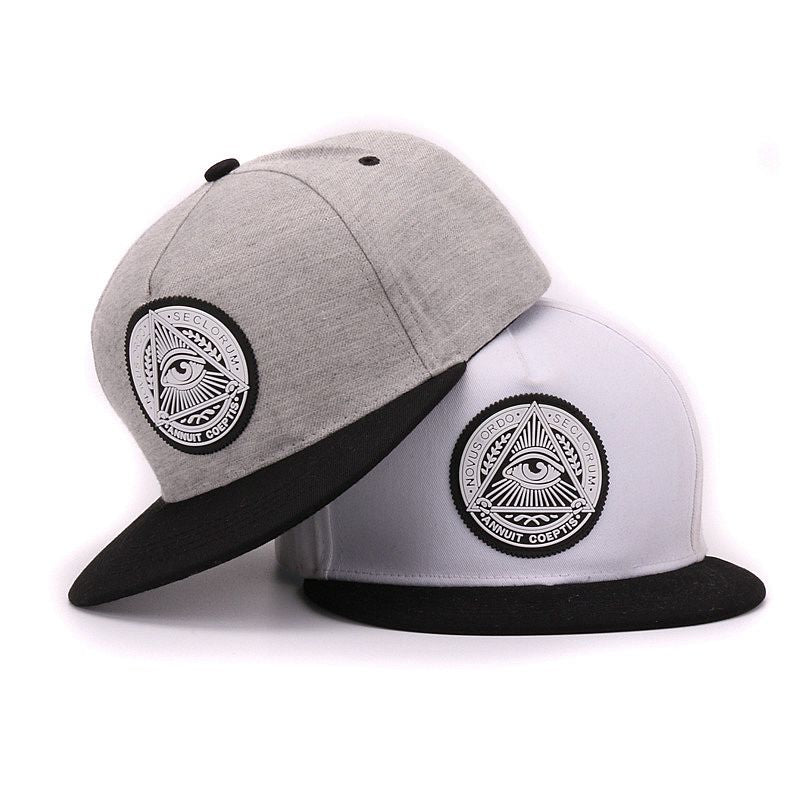 3d god eyes flat brim baseball cap - Real Man Image
