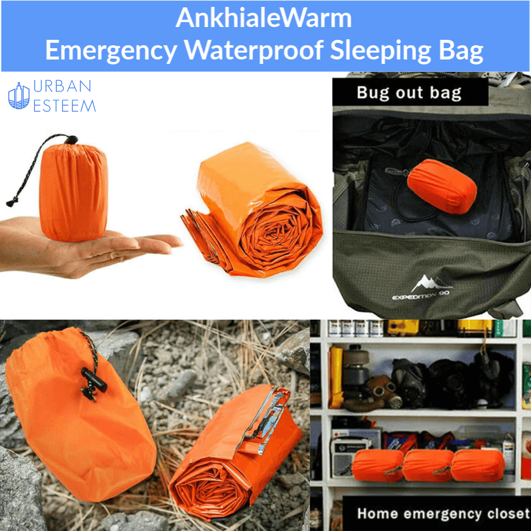 AnkhialeWarm - Emergency Sleeping Bag (Free Survival Whistle worth $12.95)