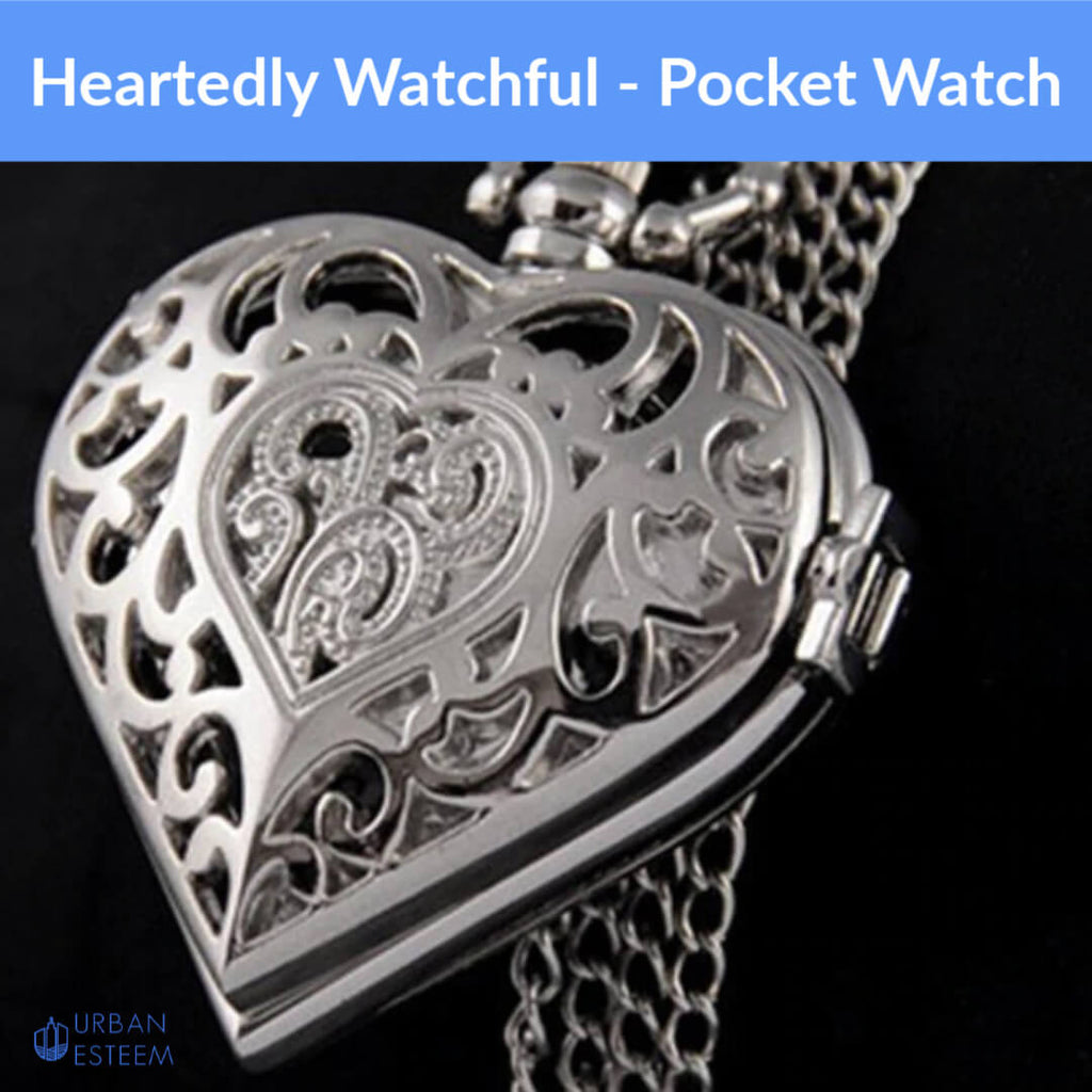 Heartedly Watchful Pocket Watch