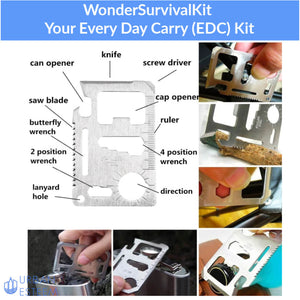 WonderSurvivalKit - Your Every Day Carry (EDC) Kit