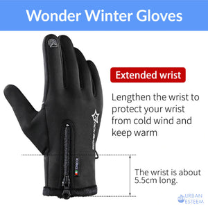 WonderGloves - Windproof with Free Neck Warmer (1 Pair of gloves per pack) - Original