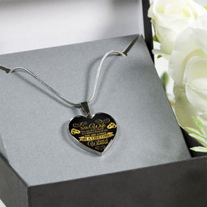 Awesome & Unique To My Wife Necklace with Adjustable Chain - Heart (Surgical Steel)