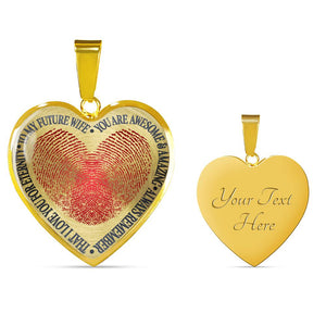 To My Future Wife - You Are Awesome & Amazing - Always Remember That - I Love You For Eternity (Real 18k Gold Finish)