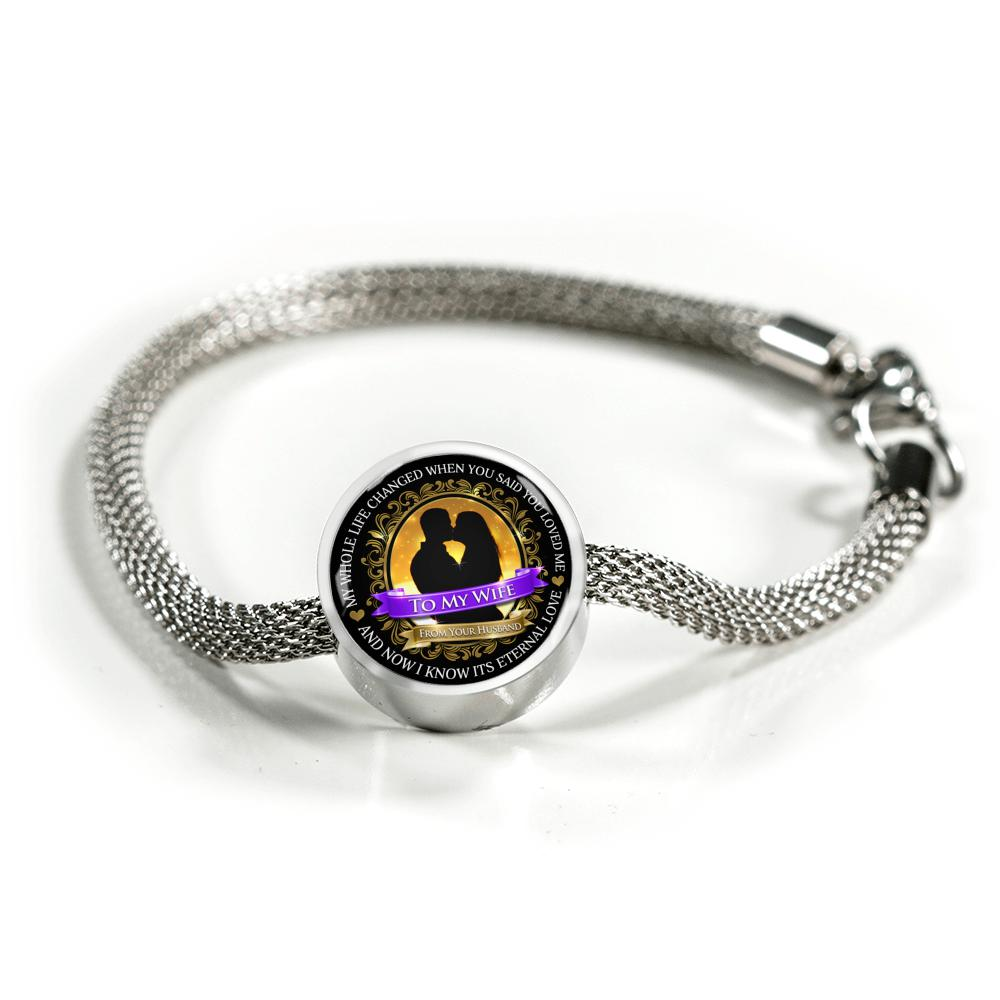 Awesome & Unique Love You For A Lifetime Bracelet with Circle Charm