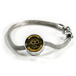 Awesome & Unique To My Wife Bracelet with Circle Charm