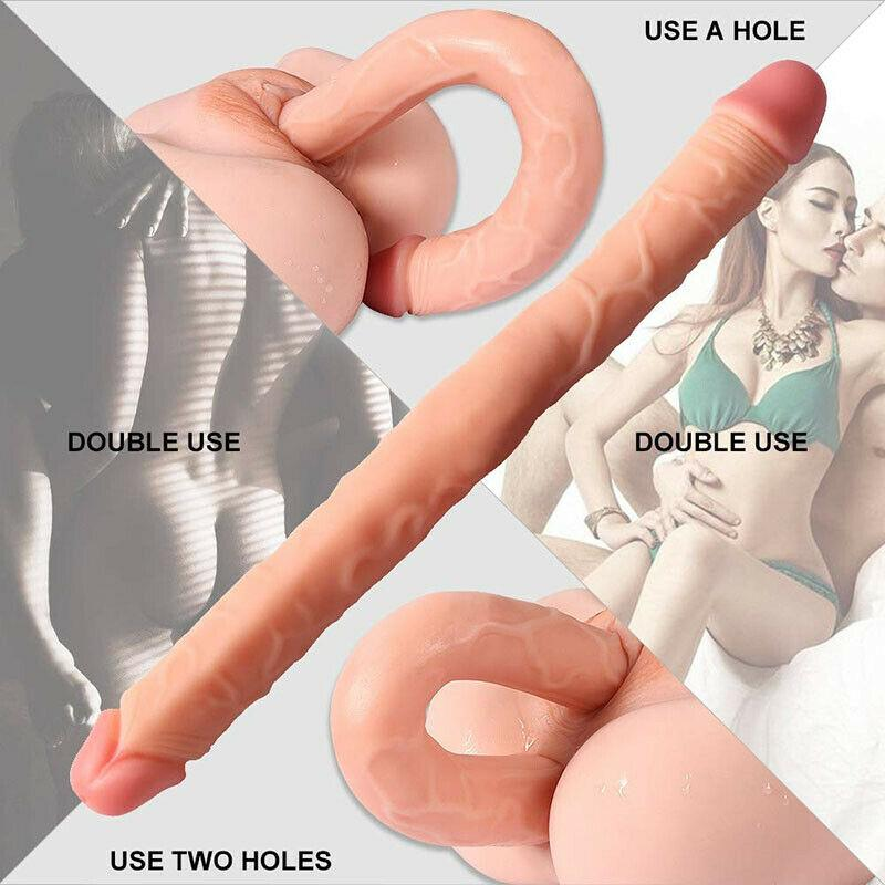 18'' Big Silicone Realistic Double Ended Dildo-ZhenDuo Sex Shop