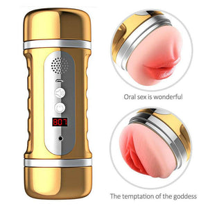 2 in 1 Vagina/Oral Automatic Electric Masturbator-ZhenDuo Sex Shop