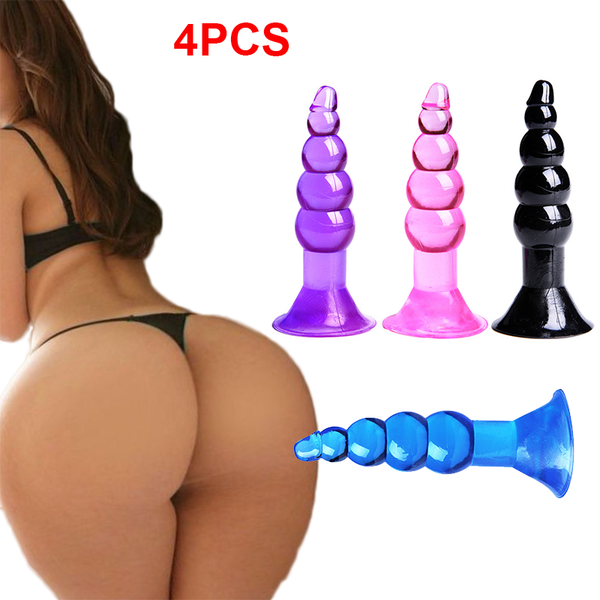 4Pcs Suction Cup Anal Beads Butt Plug-ZhenDuo Sex Shop