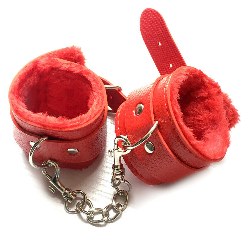 BDSM Couple Strap-On Sex PU Leather Bondage Handcuffs-ZhenDuo Sex Shop