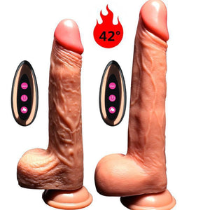 Electric Silicone Realistic Huge Dildo Suction Cup-ZhenDuo Sex Shop
