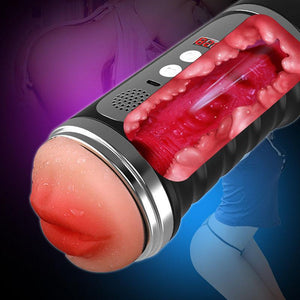 Automatic Smart Pussy Stroker Vibrating Male Masturbator Cup-ZhenDuo Sex Shop