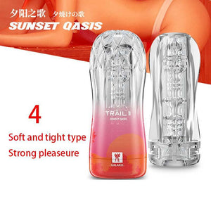 Galaku Trail II Transparent Masturbator Training Cup-ZhenDuo Sex Shop