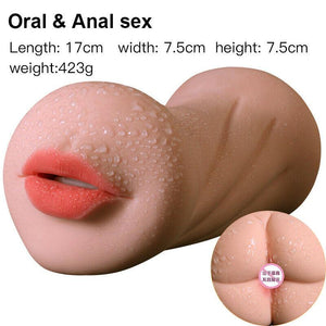 Realistic 3D Oral Vaginal Anal Male Masturbator Cup Sex Toy for Men-ZhenDuo Sex Shop
