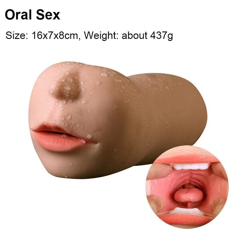 Realistic 3D Oral Vaginal Anal Male Masturbator Cup-ZhenDuo Sex Shop