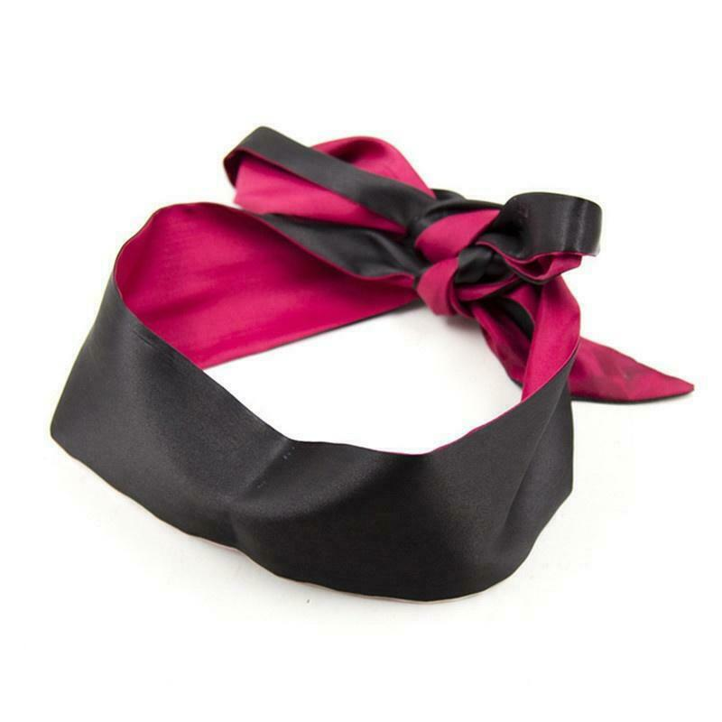 BDSM Ribbon Eye Mask Wrist Bondage Blindfold Restraints-ZhenDuo Sex Shop