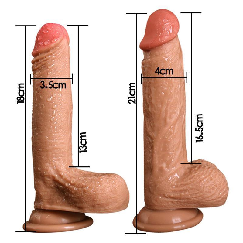 Suction Cup Silicone Realistic Huge Dildo-ZhenDuo Sex Shop
