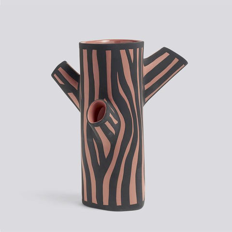 HAY TREE TRUNK VASE - MEDIUM, PINK