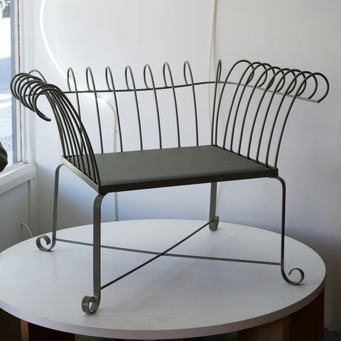 Curved Vintage Metal Chair