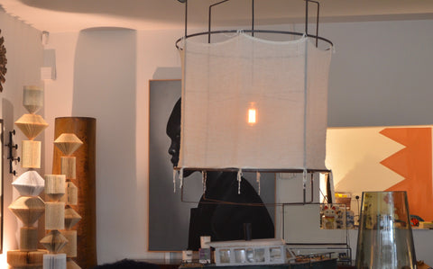 TLI Linen and steel pendant light