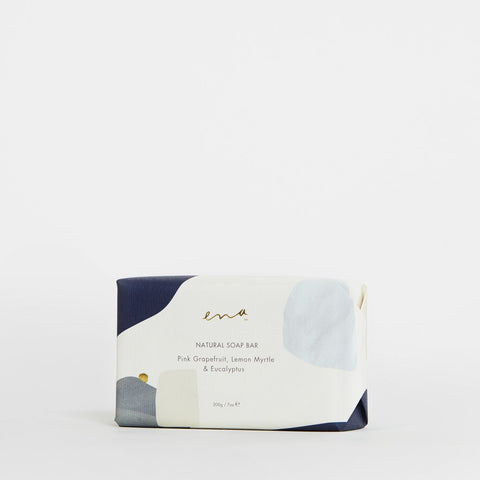 Ena Natural Soap Bar - Pink Grapefruit , Lemon Myrtle & Eucalyptus