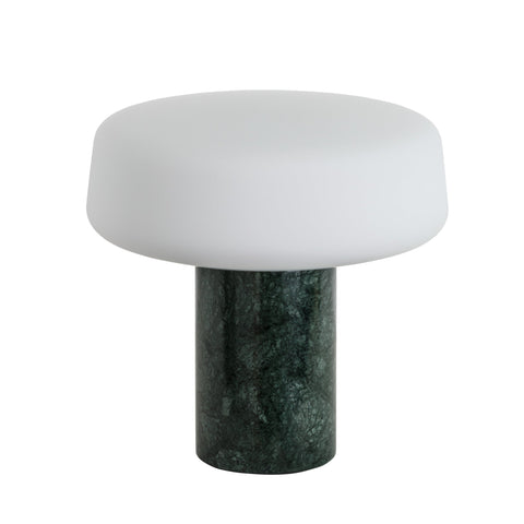 Terence Woodgate Solid Table Light, Small - Serpentine Green Marble