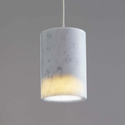 Terence Woodgate Solid Pendant - Carrara Marble