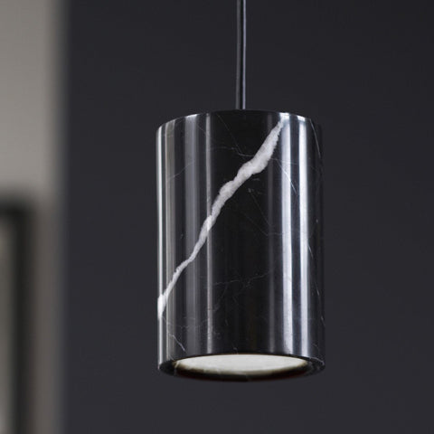 Terence Woodgate Solid Pendant - Nero Marquina Marble