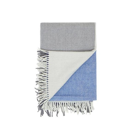 Waverley Mills Merino Throw – Navy