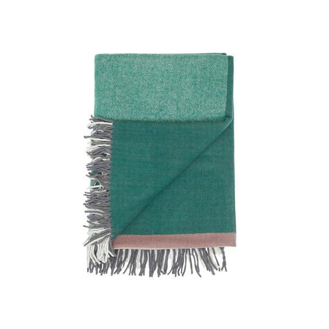 Waverley Mills Merino Throw – Pink & Green