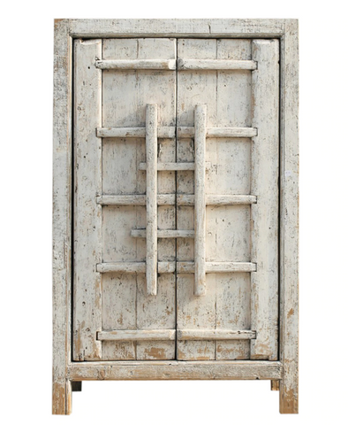 Tall white wooden Cabinet
