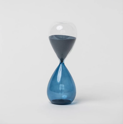 HAY - Medium Hourglass Blue (15 Minutes)
