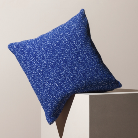 Blue speckled Cushion