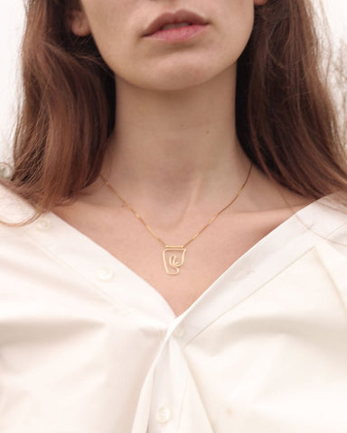 Knobbly Studio X Laurie Franck - Deconstructed Nude Necklace