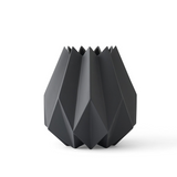 Abstract Folded Vase Carbon Large