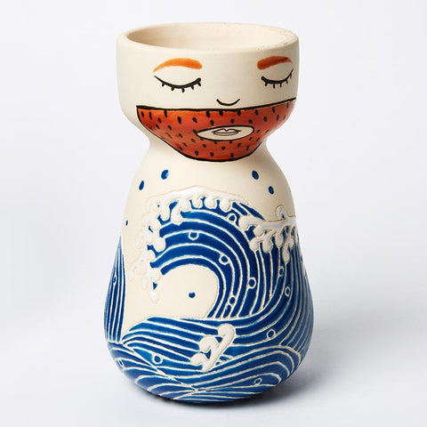 Sailor Great Wave Vase