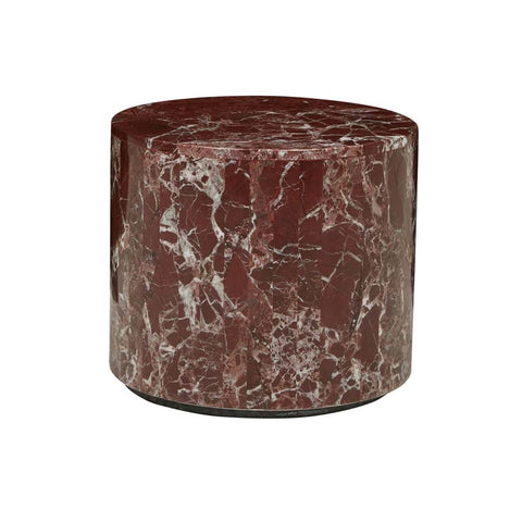 Round Rouge Stone Side Table
